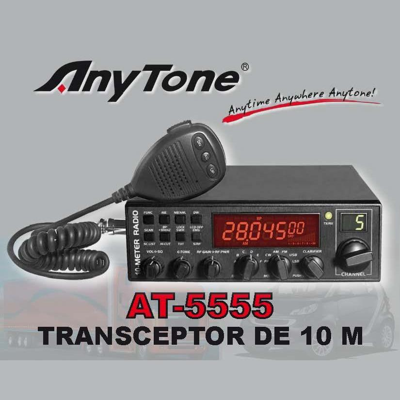 ANYTONE AT-5555 Emisora 10m 28.000-29.700 MHz AM, FM, SSB, CW